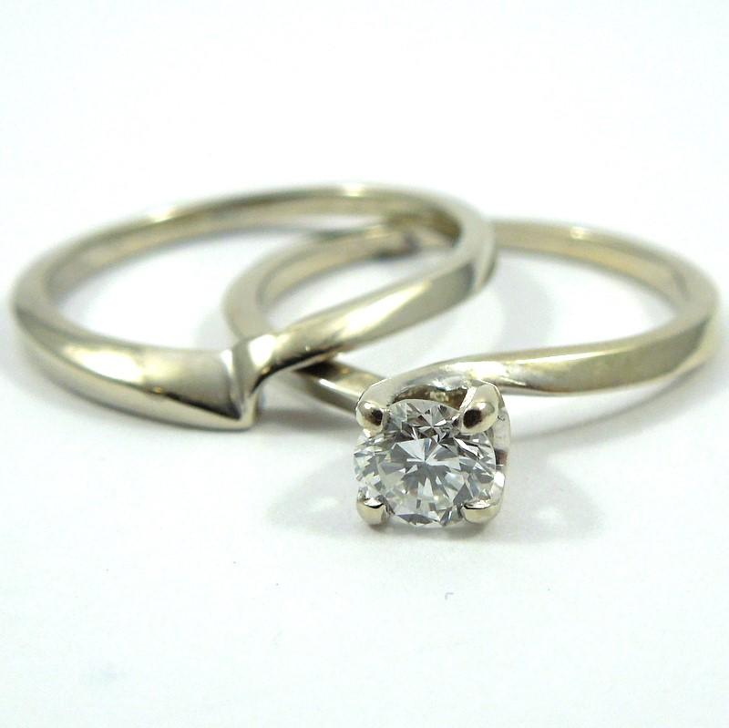 Diamond Engagement Ring & Matching Band 001-100-00782